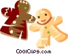 Vector Clipart picture  of a gingerbread cookies