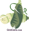 Vector Clipart picture  of a cucumbers