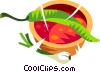 Vector Clip Art picture  of a spicy chili