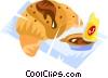 croissant Vector Clipart illustration
