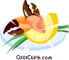 Vector Clip Art graphic  of a crab claws