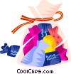 Vector Clip Art image  of a Bag of candies