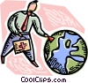 Vector Clip Art image  of a Responsibility