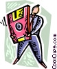 Vector Clip Art graphic  of a Technology Tools