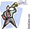 Vector Clipart graphic  of an Announcements