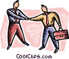 Vector Clipart illustration  of a Shaking Hands