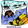 Vector Clip Art graphic  of a Grizzly Bears