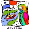 Vector Clipart picture  of a Panama