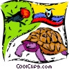 Vector Clipart graphic  of a Turtles