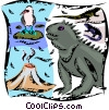 Iguanas Vector Clipart illustration