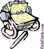 rolodex and a pen Vector Clipart picture