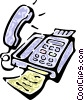 Vector Clipart picture  of a office phone
