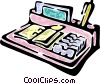 desk organizer Vector Clipart picture