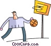 Basketball Players Vector Clipart picture