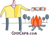 Vector Clipart graphic  of a Campfire
