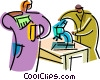 Vector Clip Art picture  of a Scientists and Researchers