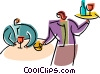 Vector Clip Art graphic  of a Waiters and Waitresses