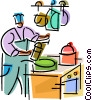 Vector Clip Art graphic  of a Bakers
