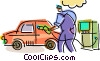 Vector Clipart illustration  of a Petroleum and Gasoline