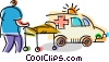 Ambulance Vector Clipart illustration