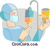Vector Clip Art graphic  of a Nurses