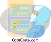 Vector Clipart graphic  of a Nurses
