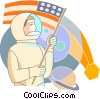 Vector Clip Art graphic  of an Astronauts
