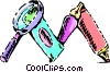 Vector Clip Art image  of a School Subjects