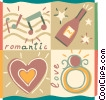 Vector Clip Art picture  of a Couples and Romance
