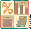 Vector Clipart graphic  of a Investment and Stock Market