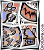 Earthquakes Vector Clipart picture