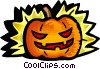 Scary pumpkin Vector Clipart illustration