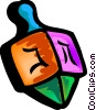 Vector Clipart illustration  of a dreidel