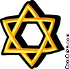 Vector Clipart image  of a star of David