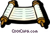 Vector Clipart graphic  of a scrolls