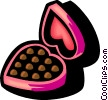 valentines day chocolates Vector Clip Art picture