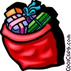 Vector Clip Art picture  of a Christmas presents