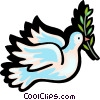 Dove of peace Vector Clipart picture