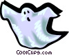 Vector Clip Art image  of a ghost