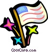 Independence day Vector Clipart illustration