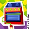 Electric Oven Vector Clip Art picture