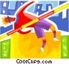 High Jump Vector Clip Art picture