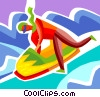 Vector Clipart picture  of a Bobsledding