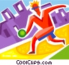 Vector Clip Art graphic  of a Bowlers