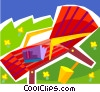 Vector Clipart graphic  of a Beach chair and book