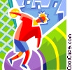 Discus Thrower Vector Clipart picture