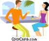 Vector Clipart image  of a Couples and Romance
