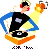 Disk Jockeys Vector Clipart picture