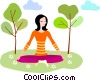 Yoga Vector Clip Art graphic