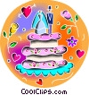 Vector Clip Art picture  of a Cakes